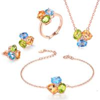 Buy cheap Round Stone Shape 925 Silver Gemstone Jewelry Chain Necklace Bracelet Ring from wholesalers