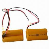 China NiCd Rechargeable Battery Pack, AA, 900mAh, 4.8V on sale
