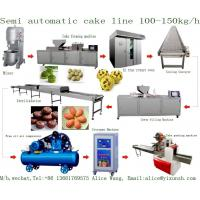 Wholesale Semi Automatic Cup Cake Custard Production line Economic Semi auto cupcake muffin production processing line machine from china suppliers