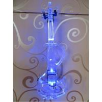 China Tianyin Brand Patent S Type Crystal Electric Violin 4/4 With Best Blue LED Light for sale