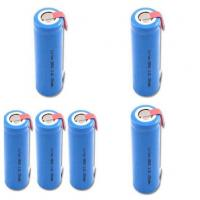 Wholesale 18650 3.7V GPS Battery Pack 1300mah With Tab , Cylindrical Lithium Battery from china suppliers