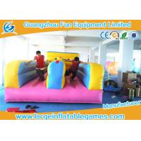 Wholesale Multifunctional  2 Lines Inflatable Bungee Run Games With 0.55mm Plato PVC Tarpaulin from china suppliers