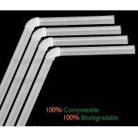 Wholesale Disposable Paper Straws Pure white Drinking Straws party straw, PLA plastic drinking straw from china suppliers