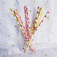 Buy cheap Customized Printing Colored Paper Straws , Patterned Drinking Straws For Party from wholesalers