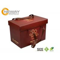 Quality Custom Gift  Food Boxes , Deluxe Customized Artpaper Handle Cake Box With PVC Window for sale