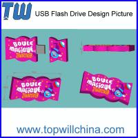 Unique Customized USB Flash Drive Candy Design Sweet Product Soft PVC