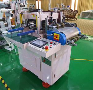 Conducting Film Fabric Die Cutter Machine With Laminating Or Feeding Machine