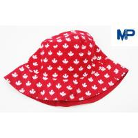 Wholesale Fashion 100% Polyester Printed Bucket Hats , Floral Bucket Hat Red Color from china suppliers