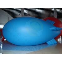 Wholesale Durable Advertising Helium Zeppelin , Blue Waterproof Inflatable Blimps from china suppliers