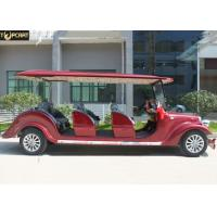 Graceful Design Classic Golf Cart 8 Seater Red Color With 30 Km/H Max Speed for sale