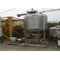 Wholesale Single Double Wall Stainless Steel Mixing Tanks / Beer Fermentation Tanks from china suppliers