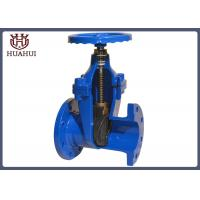 12 Inch Water Line Gate Valve , Rubber Double Disc Gate Valve No Rising Stem