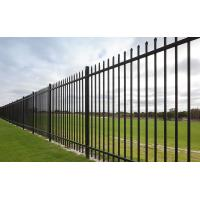 China Pressed Spear Top 2100mm*2450mm Hercules Steel Fence Panels 2 X Rails 40mm RHS X 1.6mm Spacing 125mm Upright 25mm X 1.2m on sale