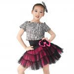 China Animal Prints Zebra Tank Top Polka Dot Cerise Tulle Skirt Outfit Black Leotard Basement includes for sale