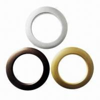 China Curtain Eyelet Rings, Made of ABS Material, Measures 5.5cm, Various Colors are Available on sale