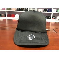 Wholesale Factory price customized  black 5panel foam back blank mesh trucker hats caps from china suppliers