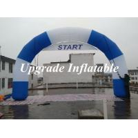 Wholesale 2015 new desgin round Inflatable start line and finish line arch with removable banner from china suppliers