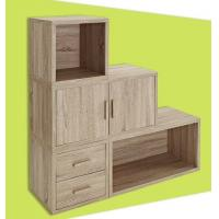 Wholesale Adjustable Light Wooden Book Case , Bookshelf With Doors/ Drawers from china suppliers