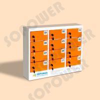 Best simple and elegant style 12 door keychain multi phone metal charging locker public cell phone charging station wholesale