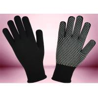 Wholesale Blue Freezer Knitted Working Hands Gloves Custom Logo Silicone Printing from china suppliers