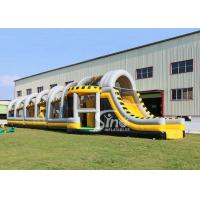 China 24m long big challenge adults inflatable obstacle course for boot camp or keeping fit made in Sino Inflatables on sale