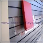China Clear Acrylic Slat-wall Book Shelves 6 tall x 2 depth x 9 long for sale