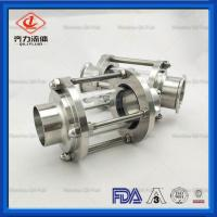 China Food Grade Sanitary Tank Fittings Durable Straight Type  Pipe Sight Glass on sale