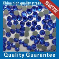 Wholesale swainstone swainstone crystals YAX206-Sapphire color 3mmSS10 highest quality hotfix rhinestone from china suppliers