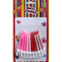 Wholesale Multi-colors Spiral Birthday Cake Candles with Holders (LWC0033) from china suppliers
