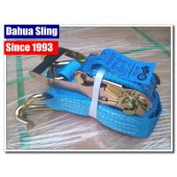 Wholesale 5000kg Working Load Cargo Tie Down Straps , Commercial E Track Ratchet Straps from china suppliers