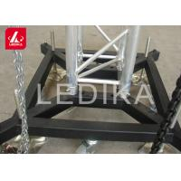 Wholesale Truss Basement Stage Truss System Lift Steel Base Plate With Wheels / Outrigger from china suppliers