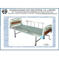 Wholesale Single Crank ICU Manual Hospital Bed , Mechanical Adjustable Clinical Bed with ABS Board from china suppliers