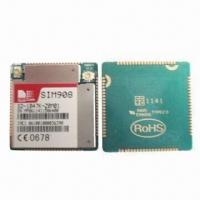 China SIM908 GSM/GRPS Communication Module with 850/900/1800/1900MHz Quad Band on sale