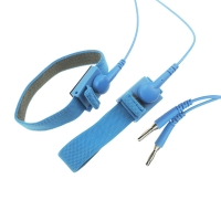 Wholesale 10ft Long 10mm Snap 2.4 Meter Coil ESD Wrist Straps from china suppliers