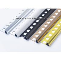 Wholesale 6mm / 8mm / 10mm / 12mm Quarter Round Aluminium Tile Edge Trim  For Tile Walls from china suppliers