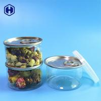 China Small PET Empty Clear Plastic Cans Easy Open End 90ml 40mm Height on sale