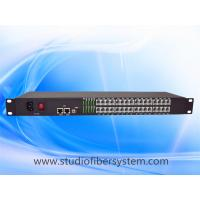 Wholesale 32 Port PCM Telephone To Fiber Optic Converter with 2Port 100M ethernet in 1U rack mount chassis from china suppliers