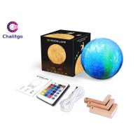 Wholesale Personalized Moon Led Night Light 5.9 Inch With Stand 16 Colors RGB from china suppliers