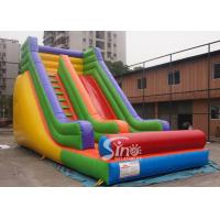 Wholesale Outdoor 19'' High Rainbow Kids Inflatable Slide With Front Load Stopper For Parties from china suppliers
