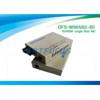 10 / 100M Fiber Media Converter 1310 & 1550 nm Single Fiber SM SC 80KM