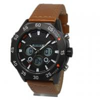 Best Eco Friendly Genuine Stainless Steel Waterproof Watches 3-5 ATM With Leather Band wholesale
