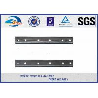 Wholesale Plain Surface 6 Holes Rail Joint Bar Railroad Fish Plate For UIC60 UIC54 Steel Rail from china suppliers