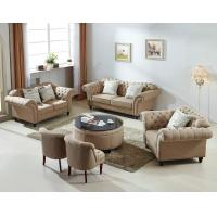 Wholesale Beige Color Living Room Furniture Wooden Leisure Fabric Sectional Sofa 1+2+3 from china suppliers