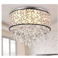 Wholesale American round mask crystal ceiling light promotional crystal ceiling lamp from china suppliers