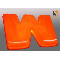 Wholesale Orange Outdoor Vacuum Formed Lighted Channel Letters With Dome Shape Face / Prismatic Face from china suppliers