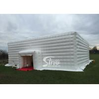 China 15x15 meters outdoor big white music party inflatable cube tent with 2 doors for events for sale