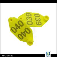 Wholesale One Side Livestock Ear Tags Printed Number No Lead And Toxic 62*40*29mm from china suppliers