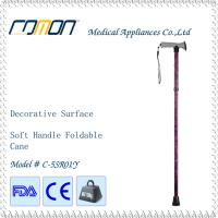 Wholesale Soft Touch Foldable Walking Cane Red Printed Color from china suppliers