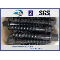 Wholesale Railway Custom Railroad Track Spikes , Threaded Screw Spike with plain oiled coating from china suppliers