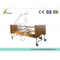 China Five Functions Electric Wooden Medical Hospital Beds / Home Care Bed by Cold Roll Sheet (ALS-HE001) on sale